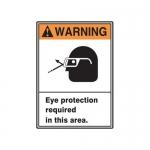 "Accuform MRPE300XT, 14″ x 10″ ANSI Safety Sign ""Eye Protection …"""
