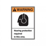 """Accuform MRPE306VP10, 10″ x 7″ Safety Sign """"Hearing Protection …"""""""