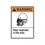 "Accuform MRPE316XT, 14″ x 10″ ANSI Safety Sign ""Wear Respirator …"""