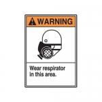 "Accuform MRPE316XV10, 14″ x 10″ ANSI Safety Sign ""Wear Respirator …"""