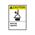 """Accuform MRPE600XV10, 14″ x 10″ ANSI Safety Sign """"Hard Hat Required"""""""