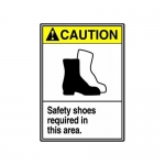 """Accuform MRPE602XV10, 14″ x 10″ Safety Sign """"Safety Shoes Required…"""""""