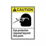 "Accuform MRPE603XV10, 14″ x 10″ ANSI Safety Sign ""Eye Protection …"""