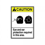 "Accuform MRPE604XV10, 14″ x 10″ ANSI Safety Sign ""Eye And Ear …"""
