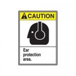 "Accuform MRPE605XT, 14″ x 10″ Safety Sign ""Ear Protection Area."""