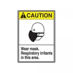 "Accuform MRPE608VP, 14″ x 10″ ANSI Safety Sign ""Wear Mask …"""