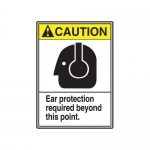 """Accuform MRPE609VP, 14″ x 10″ ANSI Safety Sign """"Ear Protection …"""""""