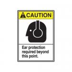 "Accuform MRPE609XT, 14″ x 10″ ANSI Safety Sign ""Ear Protection …"""