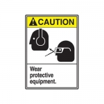 """Accuform MRPE610XL, 14″ x 10″ ANSI Safety Sign """"Wear Protective …"""""""