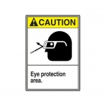 "Accuform MRPE611XP, 14″ x 10″ ANSI Safety Sign ""Eye Protection …"""