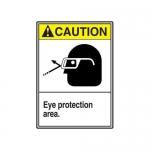 "Accuform MRPE611XV10, 14″ x 10″ ANSI Safety Sign ""Eye Protection …"""