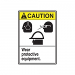 """Accuform MRPE612VP, 14″ x 10″ ANSI Safety Sign """"Wear Protective …"""""""