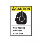 "Accuform MRPE613XL, 14″ x 10″ ANSI Safety Sign ""Wear Hearing …"""