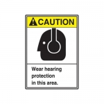 "Accuform MRPE613XP, 14″ x 10″ ANSI Safety Sign ""Wear Hearing …"""