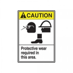 """Accuform MRPE614VP, 14″ x 10″ ANSI Safety Sign """"Protective Wear …"""""""