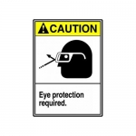 "Accuform MRPE617XT, 14″ x 10″ Safety Sign ""Eye Protection Required"""