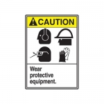"Accuform MRPE618XT, 14″ x 10″ ANSI Safety Sign ""Wear Protective …"""