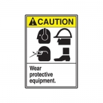"Accuform MRPE620XP, 14″ x 10″ ANSI Safety Sign ""Wear Protective …"""