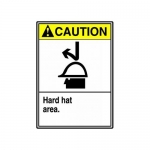 "Accuform MRPE621XT, 14″ x 10″ ANSI Safety Sign ""Hard Hat Area"""