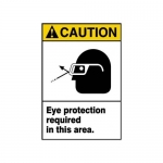 "Accuform MRPE630XT, 10″ x 7″ ANSI Safety Sign ""Eye Protection …"""