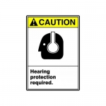 "Accuform MRPE631XT, 10″ x 7″ Safety Sign ""Hearing Protection …"""