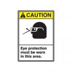 "Accuform MRPE632XP, 14″ x 10″ Safety Sign ""Eye Protection Must …"""
