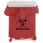 Bowman Dispensers MW-001, Biohazard Bag Holder, 1 Gallon, White Coated