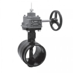 NIBCO NLK856K, GD-4865-4N 165mm Grooved Butterfly Valve, w/O & Switch