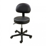 Roscoe Medical SS3227, Pneumatic Black Stool with Removable Back