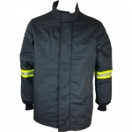 Oberon Company TCG25-CT-5XL, TCG25 PPE3 Arc Flash Black Hip Coat, 5XL