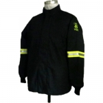 Oberon Company TCG40-CT-4XL, TCG40 PPE4 Arc Flash Black Hip Coat, 4XL