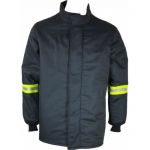 Oberon Company TCG65-CT-4XL, TCG65 PPE5 Arc Flash Black Hip Coat, 4XL
