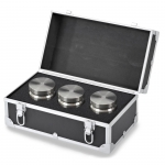 Troemner TW-80-1, (3) 5000 g Class F Stainless Steel Test Weight Set