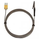 Digi-Sense WD-08468-22, Alligator Clip Oven Probe, 10ft SS Braid Cable