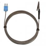 Digi-Sense WD-08468-24, Alligator Clip Oven Probe, 10ft SS Braid Cable