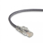 BlackBox C6PC70-GY-06, 6′ Lockable Patch Cable Gray