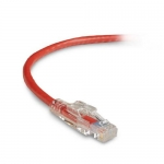 BlackBox C6PC70-RD-06, 6′ CAT6 550-MHz Lockable Patch Cable (UTP), Red